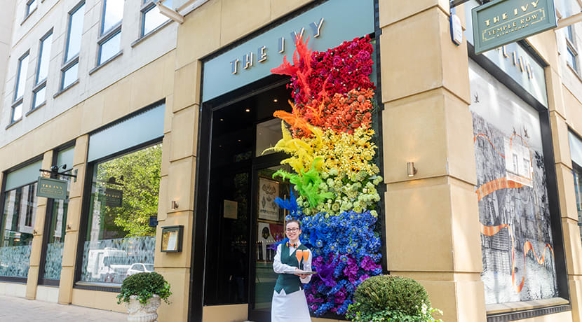 The Ivy Temple Row celebrates Birmingham Pride
