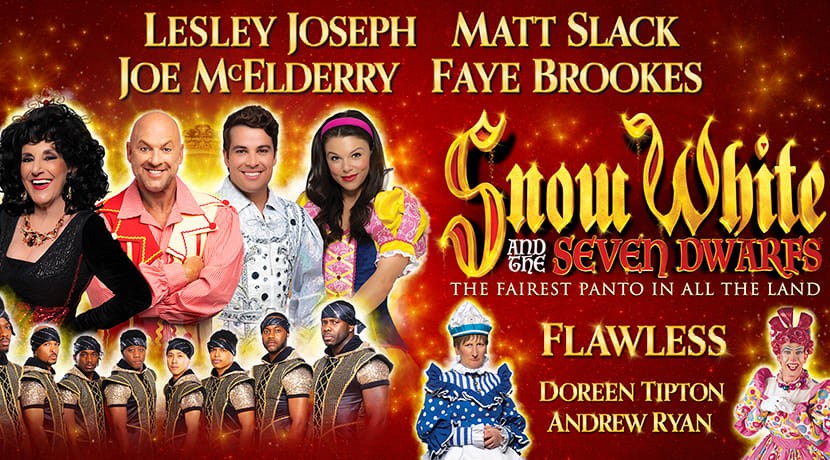 Lesley Joseph, Joe McElderry and more to star in Snow White at Birmingham Hippodrome