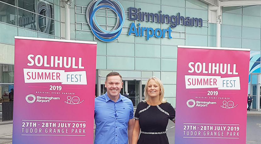 Birmingham Airport announced as this year's headline sponsor of Solihull Summer Fest