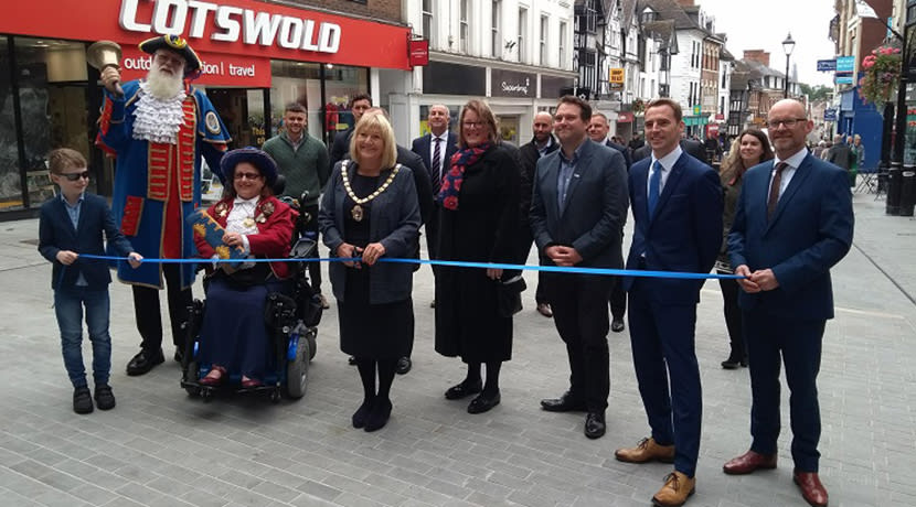 Shrewsbury's Pride Hill enhancement work completed