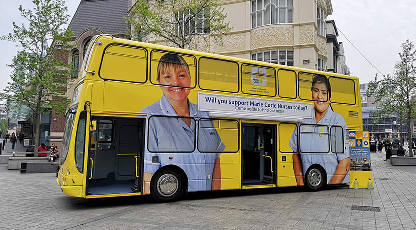 Marie Curie support bus comes to Birmingham