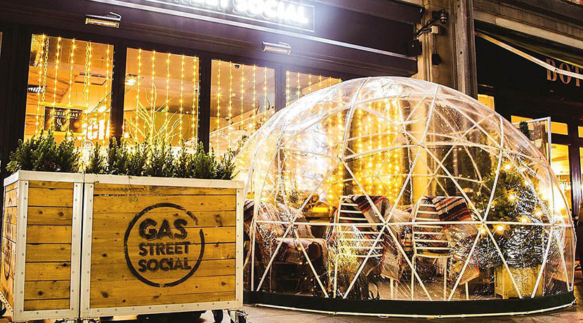 Booking is now open for Gas Street Social's Christmas igloos