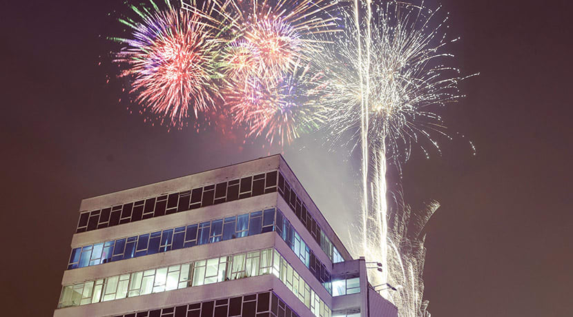 Jewellery Quarter Christmas Light Switch On & Firework Display
