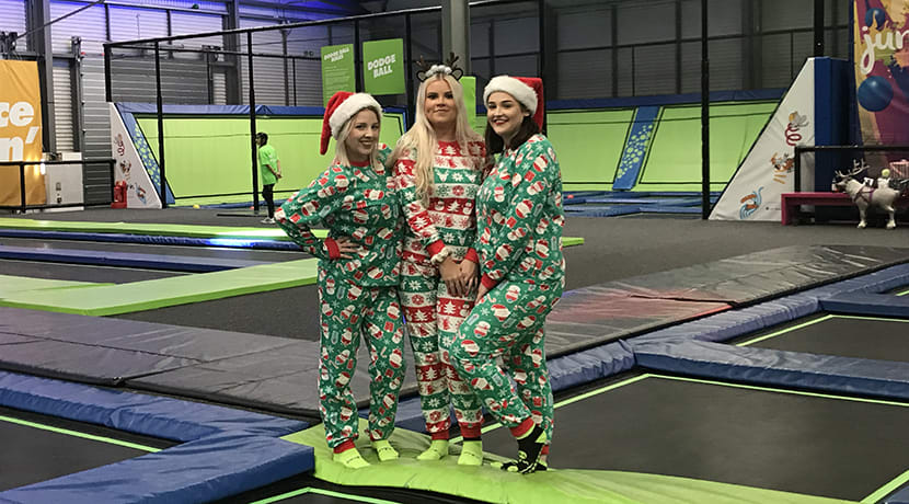 Win a Christmas Party at trampoline park Jump In Warwick