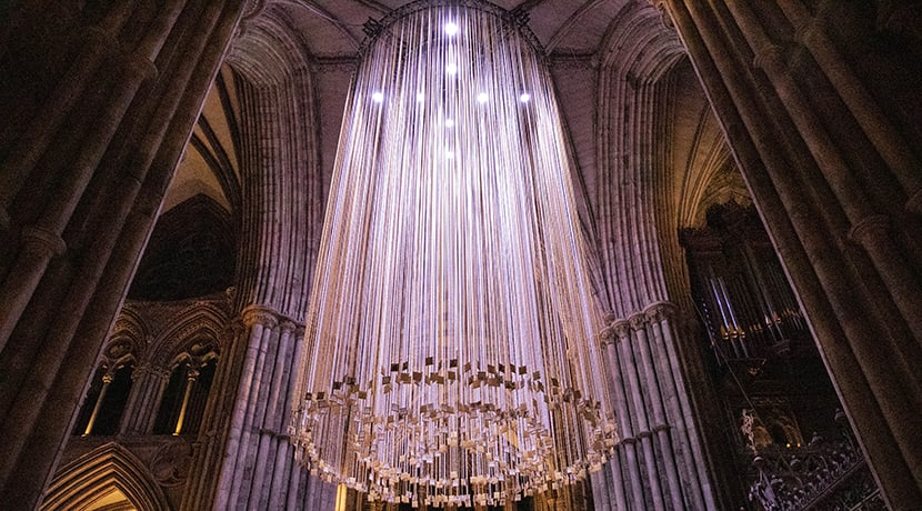 Cathedral unveils its biggest ever Christmas art project