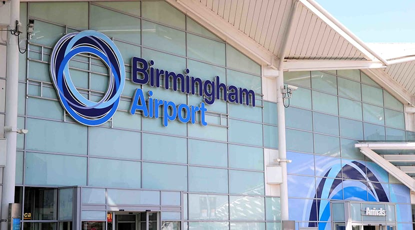 A temporary mortuary is being built at Birmingham Airport