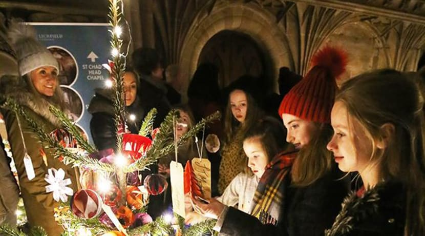 A Festival of Christmas Trees at Lichfield Cathedral