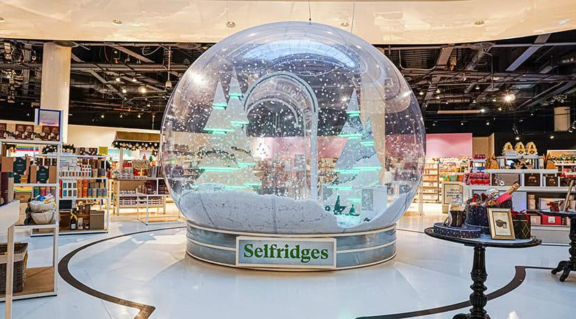 Selfridges Birmingham launches giant walk-in winter wonderland snow globe