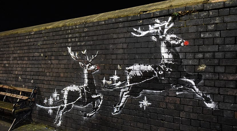 Banksy has installed a piece of art in Birmingham to highlight homelessness