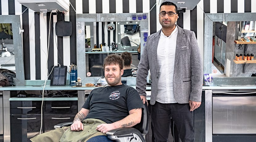 City centre barber joins national campaign to tackle knife crime