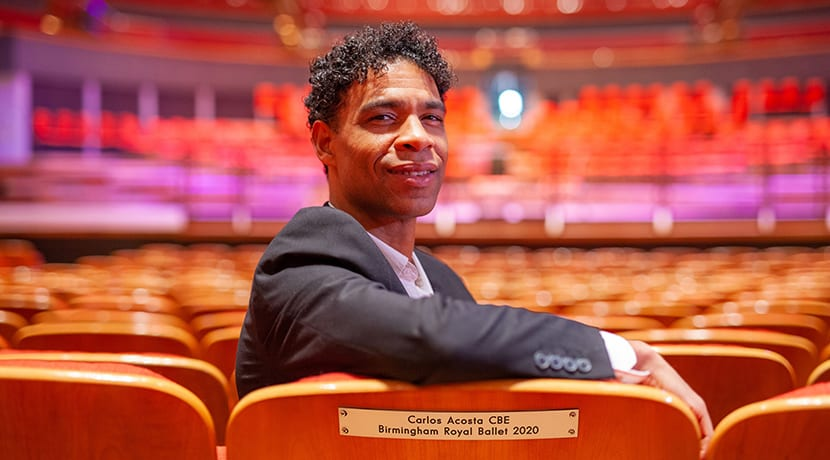 Carlos Acosta honoured with a plaque for his very own seat in Symphony Hall