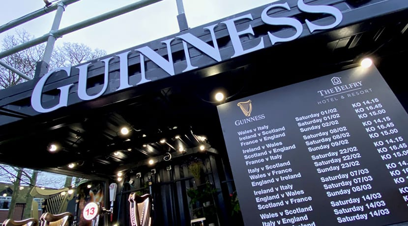 The Belfry Hotel & Resort teams up with Guinness to host Six Nations pop-up 'Fan Zone'