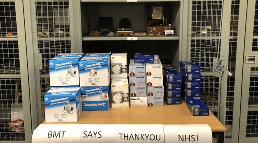 Birmingham Museums donate gloves and masks to Queen Elizabeth University Hospital Birmingham