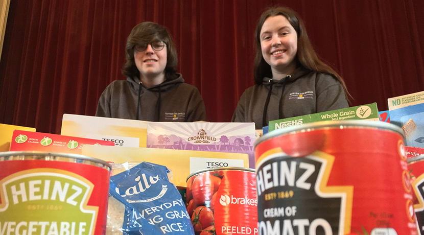 Sutton Coldfield Musical Youth Theatre pitches in to help food bank project