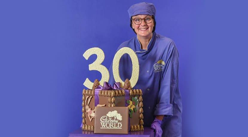 Cadbury World marks 30th anniversary with birthday-themed chocolate creation