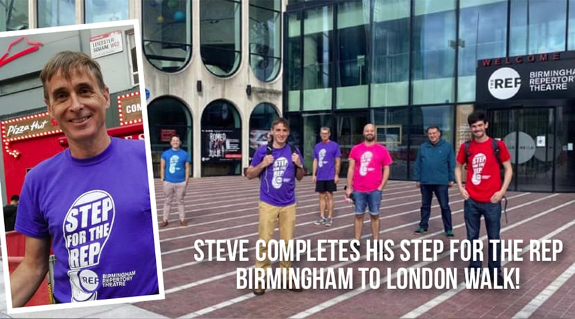 He's done it! Steve Ball completes Brum to London walk for the Birmingham Rep