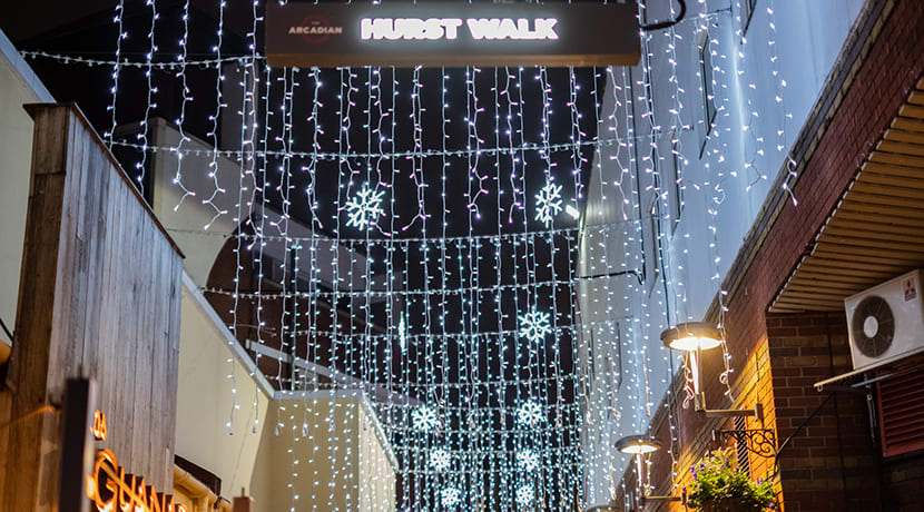 Christmas lights come early to Hurst Street to boost safety