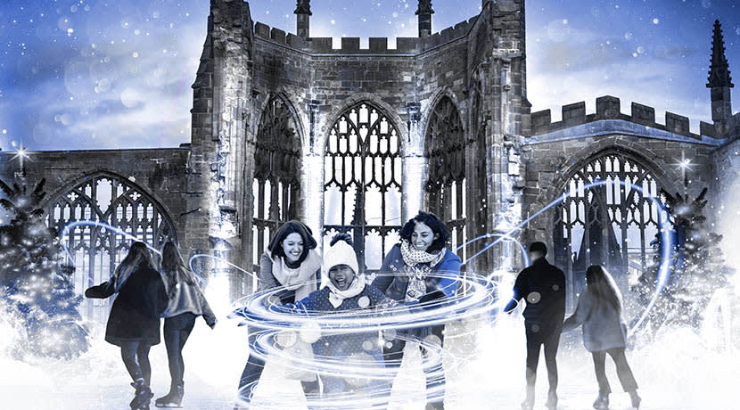 Coventry Cathedral Ruins to be transformed into magical ice rink this winter