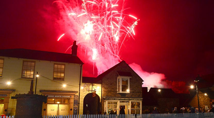 Firework and iron at Blists Hill family event