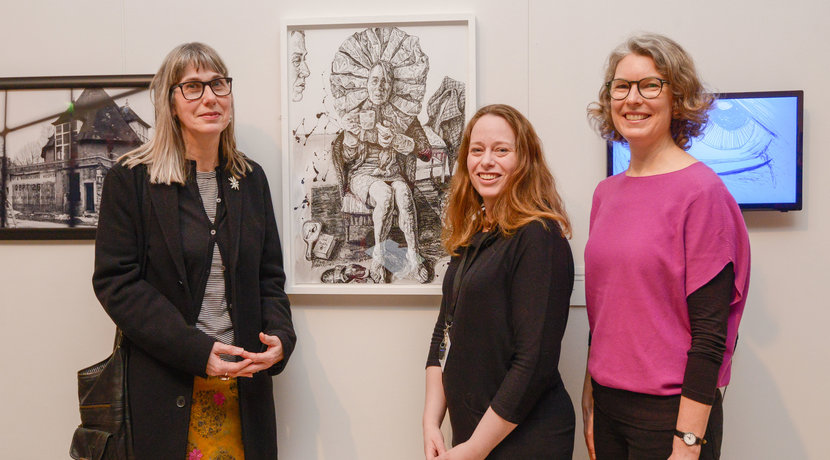 Coventry artist receives the top prize for an ink drawing at a new art exhibition in the city