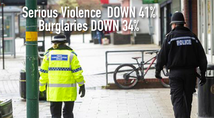 West Midlands Police: Staying at home saves lives - and cuts crime