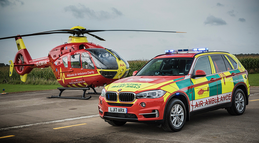 Midlands Air Ambulance charity marks mission number 60,000