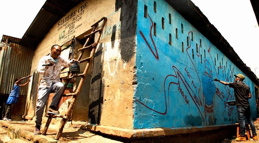 Exhibition highlights the impact of coronavirus on Kenyan settlement