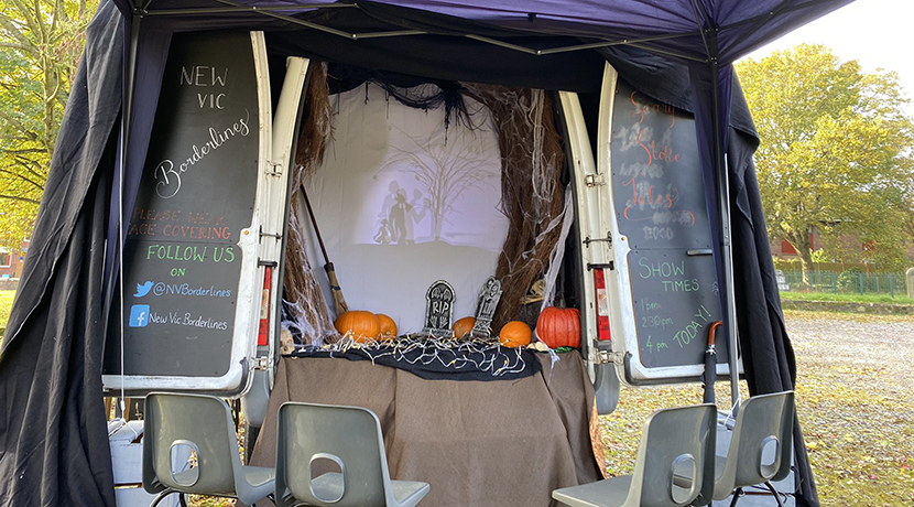 New Vic Borderlines touring a spooky puppet show this half term