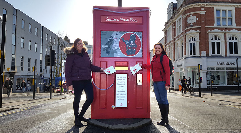 Santa's Post Box in Leamington lights up letters to Lapland