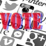 Social media voting