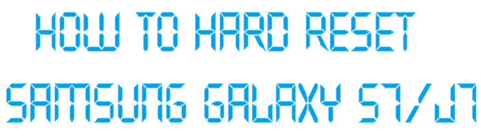 How To Factory Reset Samsung S7 / Hard Reset Samsung J7