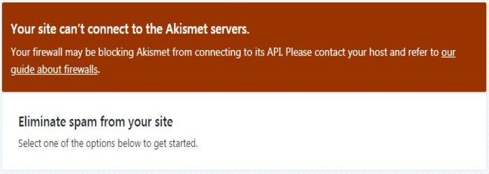 SOLVED: Your Site Can't Connect To The Akismet Servers