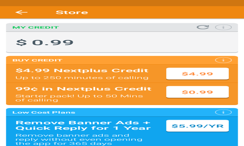 NextPlus_Purchase_Credit_options