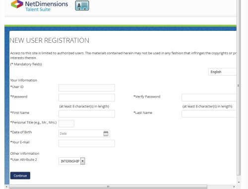 NSSF Internship application form