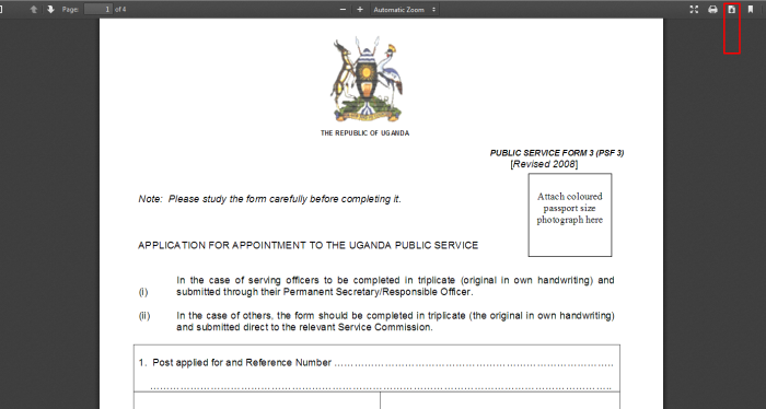 Download_PSC_Form_3_Uganda_toavbs Job Application Form Public Service Commission on washington state, members sindh, logo wi, current chairman federal, west virginia, hd logo punjab, lecturer pak study past paper kpk, advertisement for administrative secretary,
