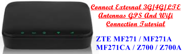 ZTE MF271 External WiFi Boost Connect