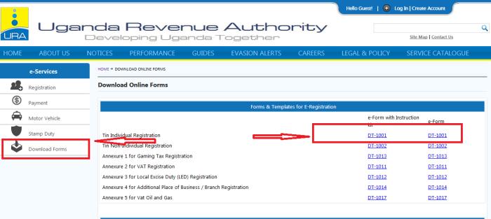 Online application for Tin number in Uganda – steps and procedures