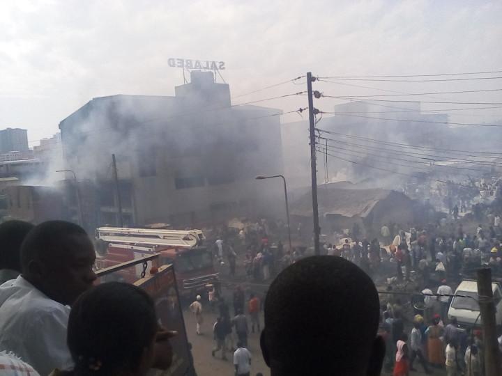 Kisenyi cassava milling factories on fire