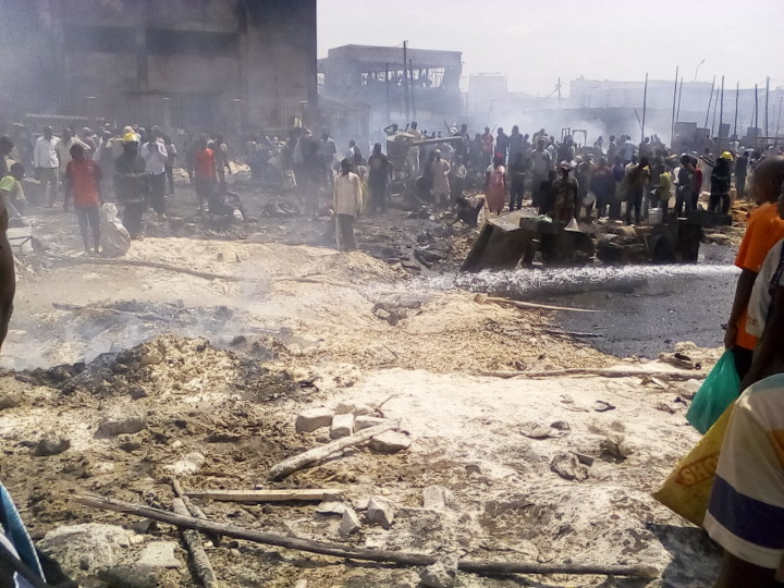 Kisenyi Maize milling factories on fire