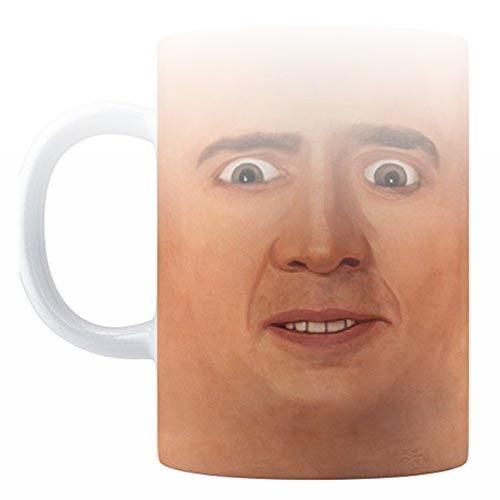 Dwelling in Fantasy Creepy Cage Face Coffee Mug