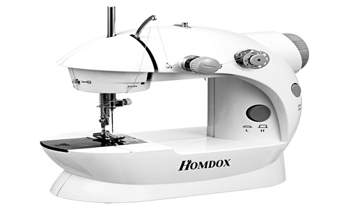 Homdox Sewing Machine Basic Mini 2-Speed Double Thread, with Lamp and Cutter