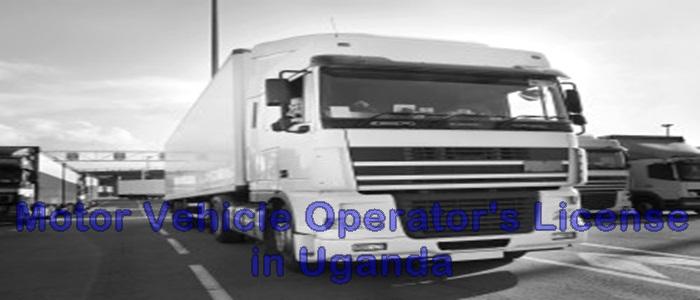 Motor vehicle operators license Uganda