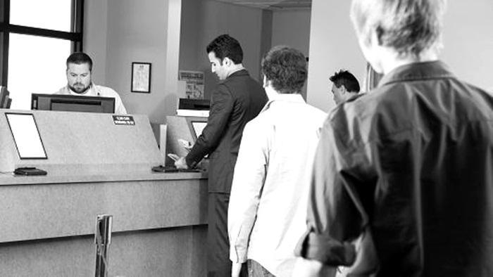 make payment at the bank