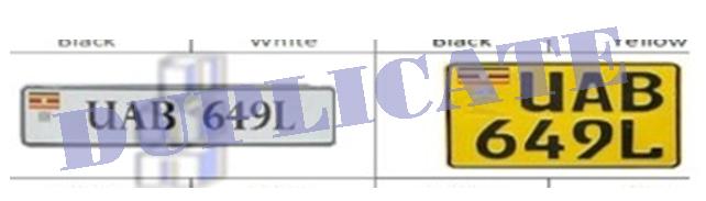 URA Both number plates lost process duplicates