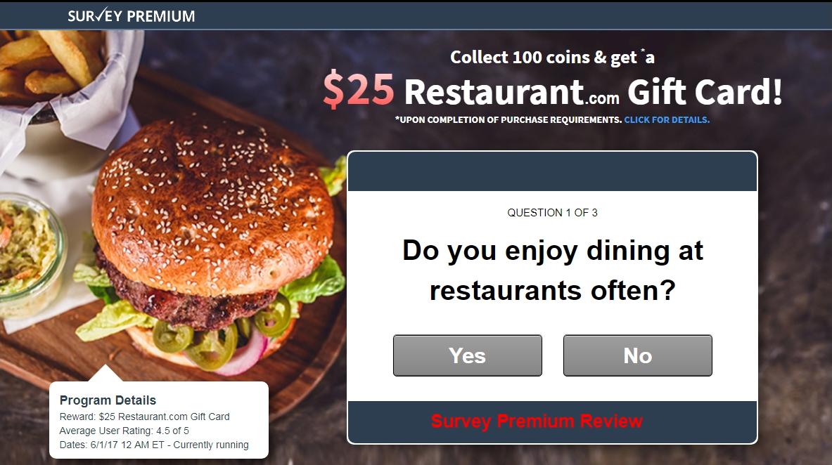 Survey Premium Review
