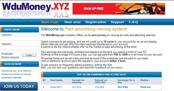 Wdumoney.xyz Review