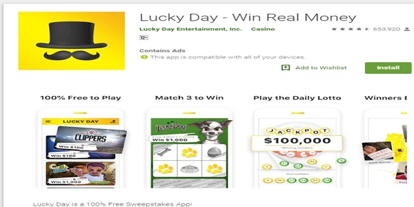 Lucky Day App Review - Win Real Money