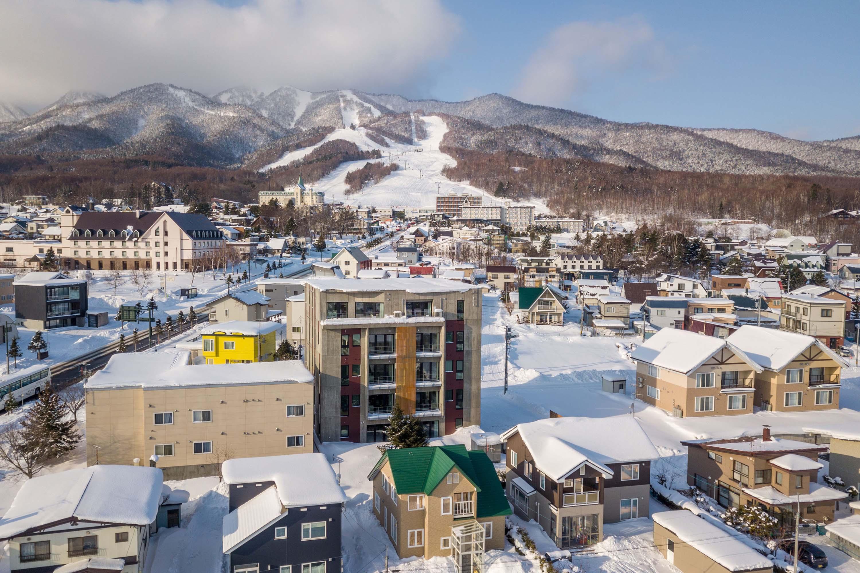Stunning ski resort views from the new Kaku Place Furano