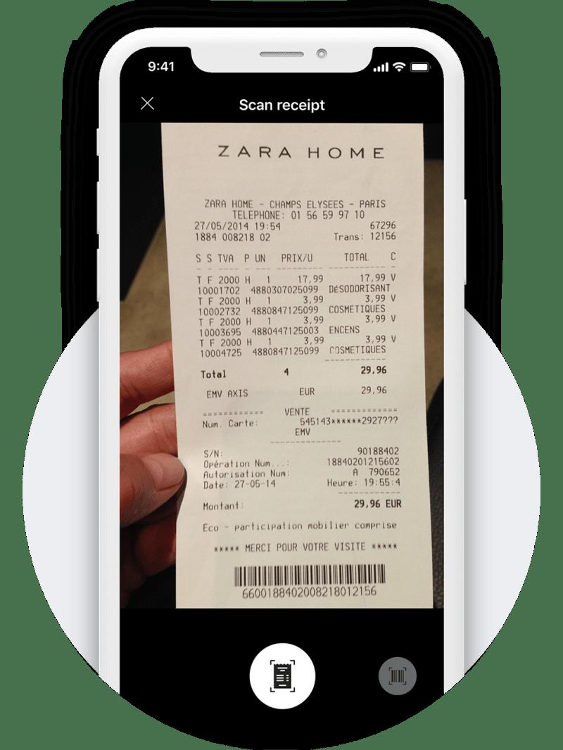 Scan receipt