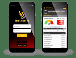Fire Safety web app concept mobile
